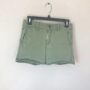 AMERICAN EAGLE Olive Green Midi Shorts Size 2